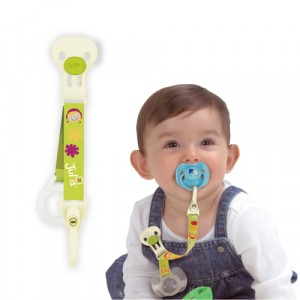 Pacifier Clip With Cover Holder - Julia