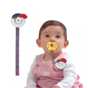 Pacifier Clip (With Soft Head)  - Wayne
