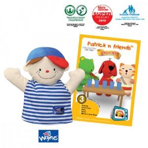 Patrick n Friends DVD Cartoon with Hand Puppet - Wayne