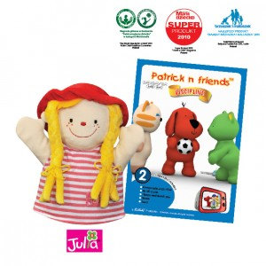 Patrick n Friends DVD Cartoon with Hand Puppet - Julia
